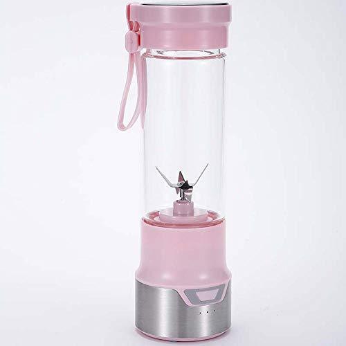 USB-oplaadbare sapcentrifuge, draagbare smoothie juicer, staafmixer voor op reis, outdoor, sport en thuis. roze