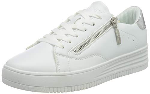 ESPRIT Damen 080EK1W324 Sneaker, 101/WHITE 2, 41 EU