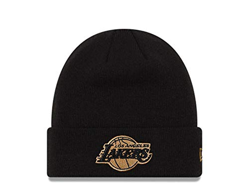 New Era Los Angeles Lakers Black and Gold Logo Mütze - NBA Basketball