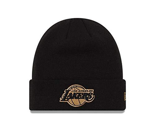 New Era Los Angeles Lakers Black and Gold Logo Mütze - NBA Basketball