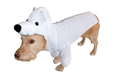 Seruna Hund-e Kostüm-e Eisbär FH01 Gr. L, Hunde-Bekleidung klein mittel groß Bär-en Faschings-Kostüm für Haus-Tiere Karneval-s