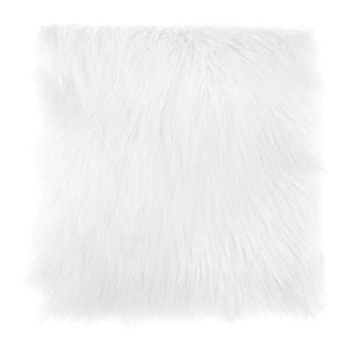 LALY A SHOP Stuhlbezug aus Schafsfell, warm, haarig, Woll-Teppich, Lange Haut, einfarbig, flauschig, waschbar, 3 Farben, Wt,30cm X 30cm, China