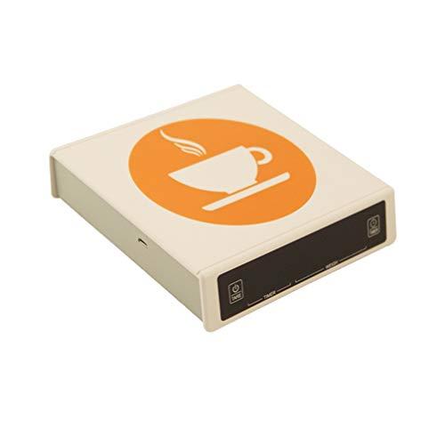 Hemoton 3 Kg / 0. 1G Balanzas Digitales de Cocina Precisión Balanza de Café Electrónica Balanza de Peso de Café con Temporizador para Café de Cocina Hogar sin Batería (Blanco)