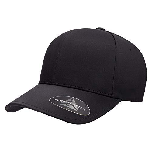 Flexfit mens Flexfit Delta Seamless Cap Hat, Black, Large-X-Large US