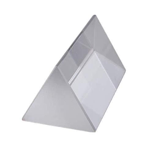 KUNSE 5Cm Dreieckige Prisma Physik Lehre Lichtspektrum Optisches Glas