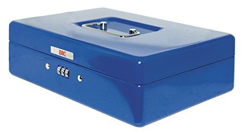 FAC 17046 - Geldkassette mit Zahlenschloss, Nummer 3, Farbe blau