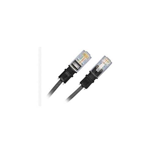 Patchsee Telefon Patchkabel U-UTP Zwei-paarig Länge 4,9m Schwarze Tülle schwarzes Kabel VPE 12 STK