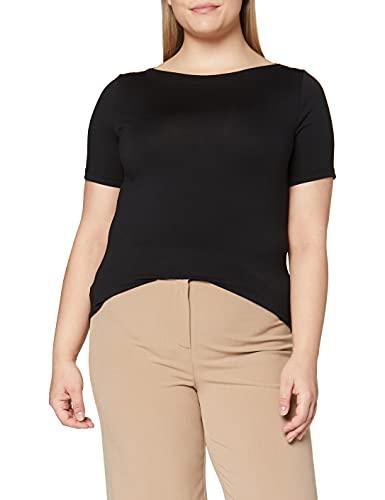 VERO MODA Damen Vmpanda Modal S/S Top Ga Noos Shirt, Schwarz, M EU