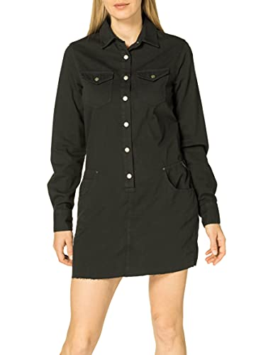 REPLAY W9644 Vestido, 998 Black Board, M para Mujer