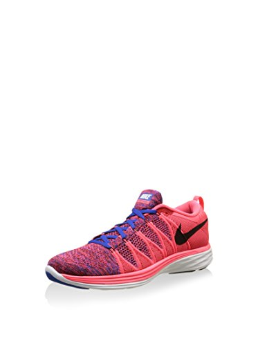 Nike Mens Flyknit Lunar 2 Running Shoes - Volt/Black/Photo Blue/Electric Green/White (7.5)