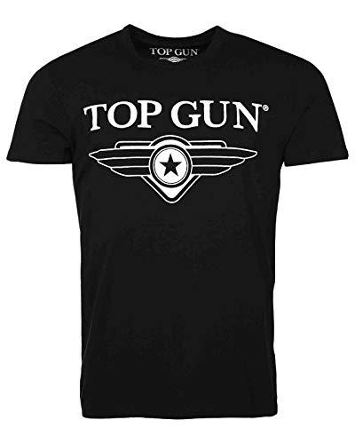 Top Gun Cloudy Black T-Shirts (XL)
