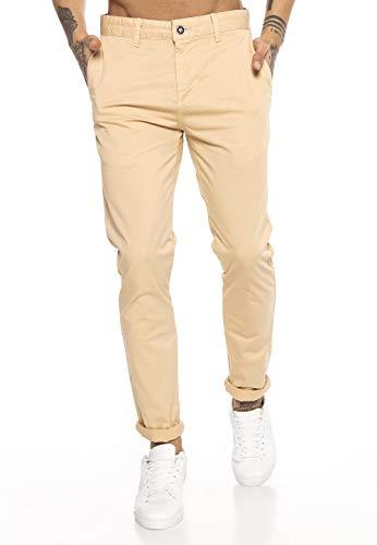 Redbridge Pantalones para Hombres Chino-Pants de algodón Stretch Elegantes Camel
