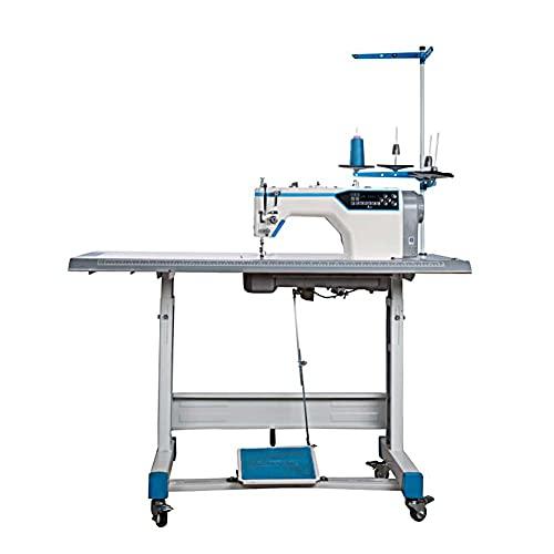 FFYUE Máquina Textil Industrial Automática, Máquina De Coser con Mesa De Trabajo, Sonido Ligero, Adecuado para Coser Chaquetas, Jeans De Costura, Etc