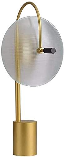 FHUA Lámpara Escritorio Moderno Modelo de casa de diseño Personalidad Creativa Sala de Estar Dormitorio mesita de Noche Claro lámpara de Mesa de Cristal 33 * 56cm