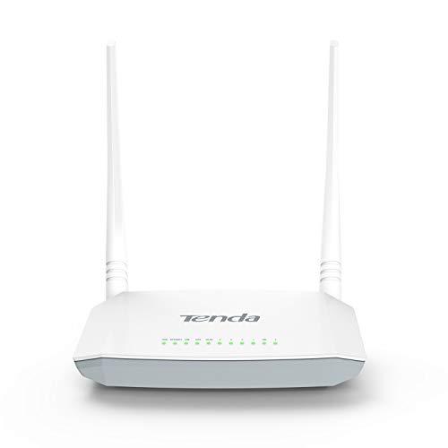 Tenda D301 V2.0 Modem Router, Wireless N300 Mbps, 4 Porte Fast Ethernet, 1 Porta USB 2.0, Dispositivo 4-in-1 Bianco, ADSL2+