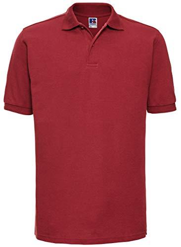 Russels Workwear Polo résistant pour homme - Rouge - XS