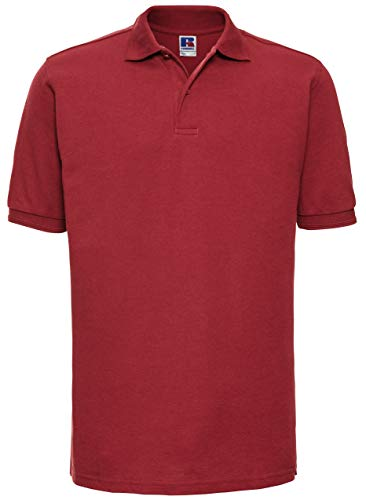 Russels Workwear Polo résistant pour homme - Rouge - XS