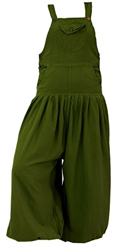 Guru-Shop Latzhose Muck Aladinhose Haremshose Pluderhose Pumphose - Olive, Damen, Grün, Baumwolle, Size:S (36), Pluderhosen, Aladinhosen Alternative...