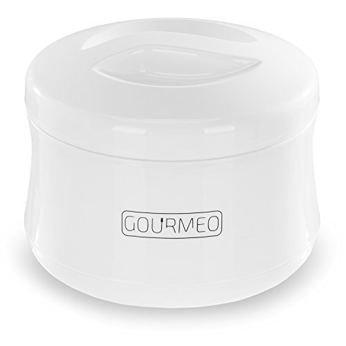 GOURMEO Yoghurt Maker for Greek Yoghurt, Soy Yoghurt, Curd, 1 Litre Volume, Manual,...