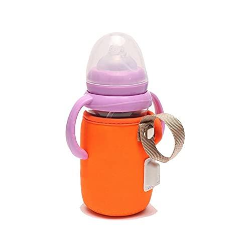 Tree-fr-Life Couvercle de Bouteille pour Enfants Thermostat Couvercle de biberon avec poignée Chauffe-biberon USB Chauffage de Voiture Voyage Sac de Chauffe-biberon pour Enfants Orange