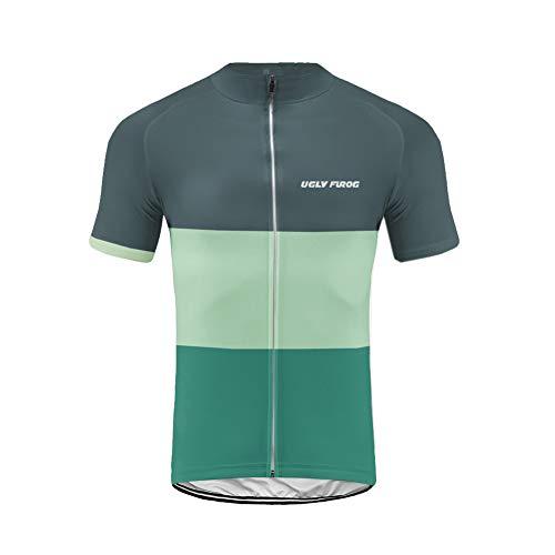 Uglyfrog 2019-2020 Bike Wear Ciclismo Hombres Maillots Seco y Transpirable de Bicicleta Conjunto de Ropa de Ciclo Jersey de Manga Corta