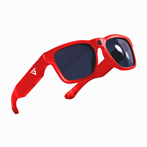GoVision Royale Ultra High Definition Video Camera Sunglasses   Water Resistant Eyeglasses  8MP Camcorder   Wide Angle View, Unisex Design, Stylish, Water Resistant and Lightweight Frame Red