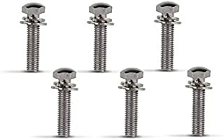 KIMME 6pcs Handlebar Screw Bolt for Suzuki GS750 GS850 GS1000 GS1100 GS 750 850 425 450 550 650 250 1000 RM 125 250 100 370 TS TM GT