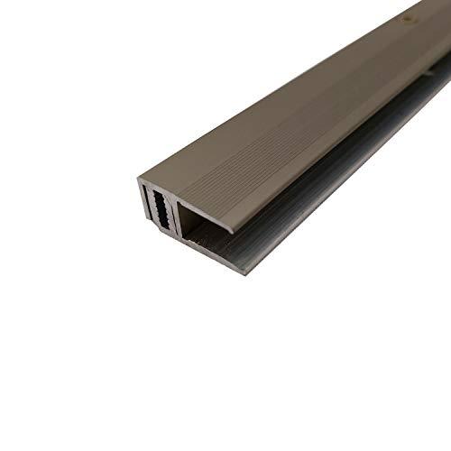 ufitec Profilsystem für Parkett- und Laminatböden - für Belagshöhen von 7-16 mm - viele Farben lieferbar (Abschlussprofile 100 cm lang, Bronze Hell)