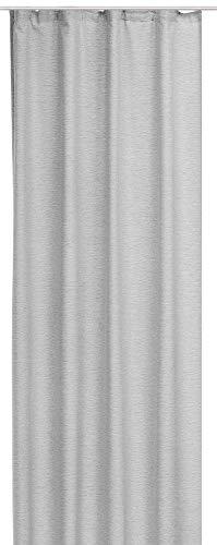 Bestlivings Gardine Blickdicht in Leinenoptik 140x245 cm mit Universalband in Grau, in vielen Varianten