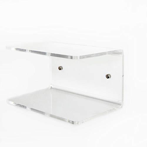 Fimel Mensola a U Misura L.30 X P.21XH.17 cm in plexiglass Trasparente Spessore 8 mmAdatta Come Comodino,Come mensola salvaspazi