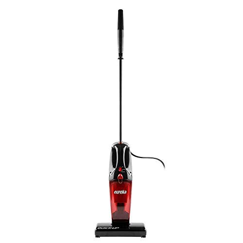 eureka Vacuum Cleaner Powerful Suction Small Handheld Vac with Filter for Hard Floor Lightweight Upright Home Pet Hair, 1-(Pack), Light Red
