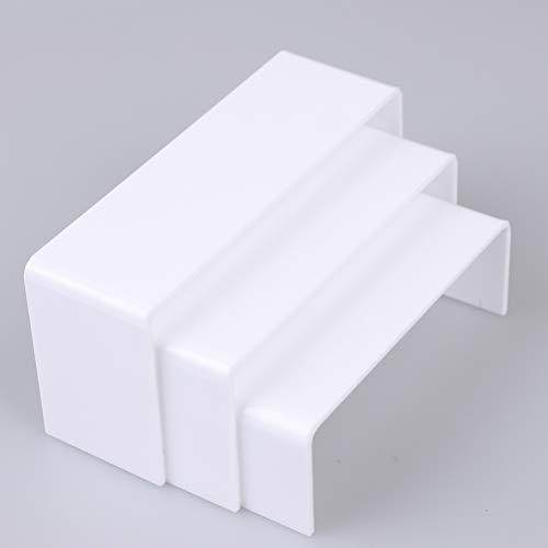 Tiantian - Espositore in acrilico, 3 pezzi, in acrilico, espositore a più livelli, per figure da collezione, display da scrivania Conte rtop, per decorazione e organizzatore