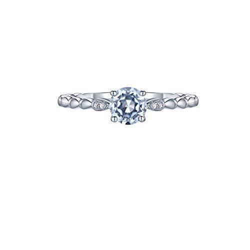 Ubestlove Ehering 750 Gold Damen Geschenk Frau 60. Geburtstag Runder Citrin 0,52 Ct Diamant 0,01 Ct Damenringe 50