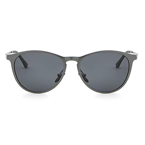 JIAGU Gafas de Sol de Estilo Gafas de Sol polarizadas for Hombre de Aluminio y magnesio Gafas de Sol Estilo Conductor (Color : Gray, Size : Free Size)