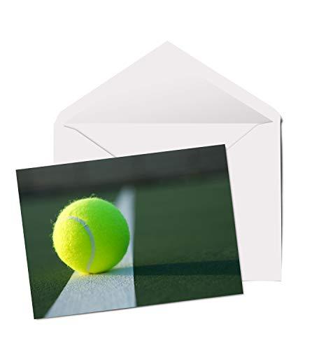 Cool Tennis Ball – A5 Grußkarte Geburtstag Vater Bruder Sport Sohn #2358