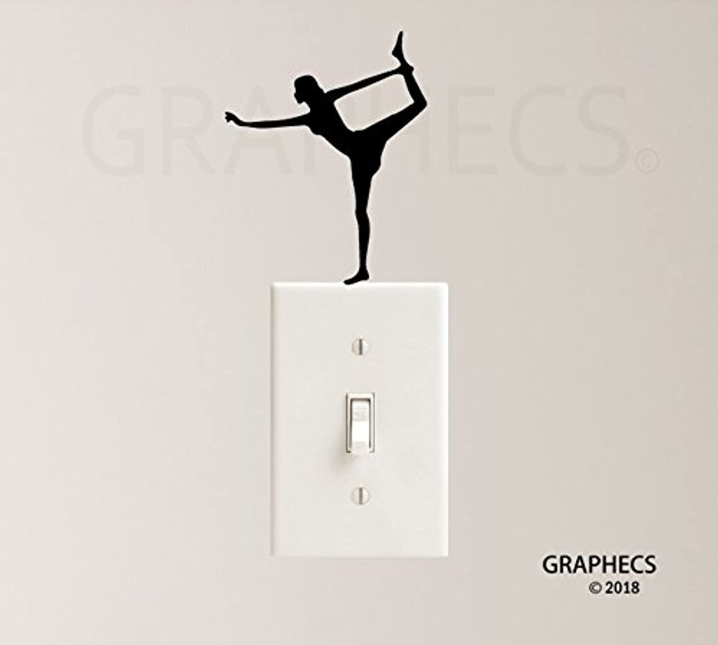 Yoga Girl Vinyl Decal Sticker Light Switch Kids Home Decor