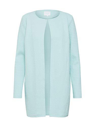 Vila Clothes Vinaja New Long Jacket-Noos Chaqueta Punto, Azul (Blue Haze Blue Haze), 36 (Talla del Fabricante: X-Small) para Mujer