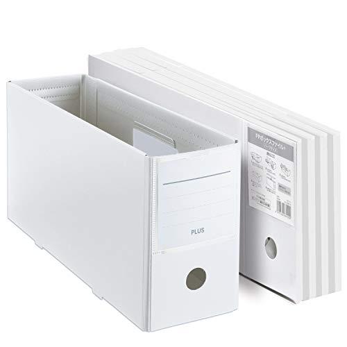 プラス ファイルボックス PPボックスファイル+ ハーフサイズ ホワイト 5個セット 76001×5
