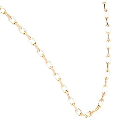 Jollys Jewellers Cadena Belcher de oro amarillo de 9 quilates de 46,4 cm con corte de diamante (1 mm de ancho). Collar único para mujer