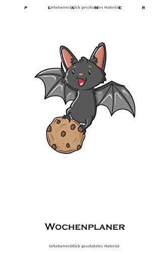 Cookie Fledermaus Wochenplaner: Wochenübersicht (Termine, Ziele, Notizen, Wochenplan) für Naschkatzen und Keksliebhaber