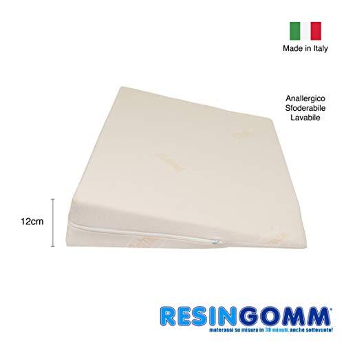 Cuscino a Cuneo alza Gambe, riposa Gambe alza Materasso Letto. Resingomm sfoderabile e Lavabile Alta densità, indeformabile.