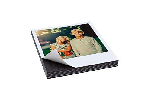 Foto Magnet 10er Set in verschiedenen Größen | Kühlschrankmagnet | Magnetfoto | Magnetpinwand | Magnetische Bilderrahmen, Fotocollage | Klebemagnet, Fotopapier (Mini-Polaroid (5,4 x 8,6 cm)