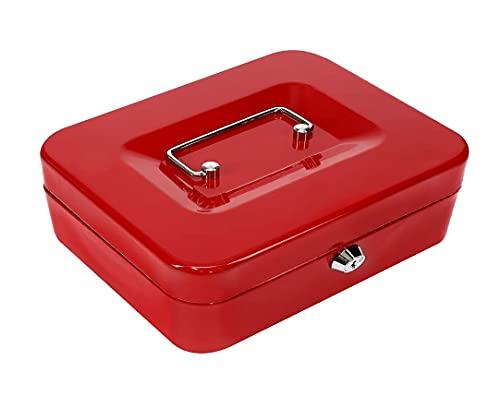 Kippen 10033R4 - Caja de caudales Roja Medidas: 300x240x90 mm