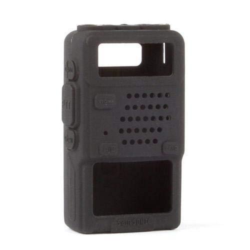 Two Way Radio Rubber Soft Case Compatible with Baofeng UV-5R Series (UV-5R UV-5RX3 UV-5RTP UV-5R Plus UV-5RA), Black, 1 Pack