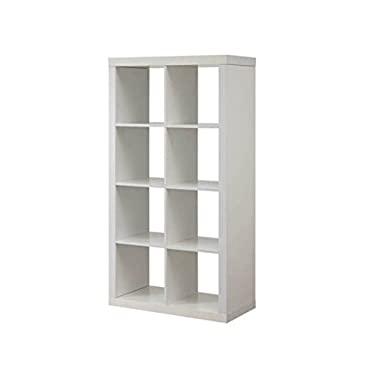 Better Homes and Gardens Furniture 8-Cube Room Organizer Storage Divider/Bookcase (White)