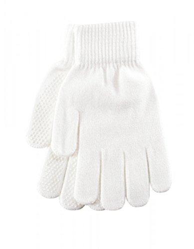 Pfiff 011256 Handschuhe Grippy mit Noppen Winterhandschuhe Universalgröße Unisex, Weiß