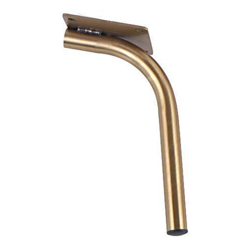 HZSN Gold Tischfüße Metall Möbelfüße Schrank Schrank 2Pcs 1600 Pfund Sofa Bar-Tabellen-Bett Beine 25cm- Verifiziert Lab Test unterstützt 0306 (Size : 18cm(2Pcs))
