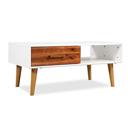 Mesas de centro, mesa de centro de madera maciza de acacia con...