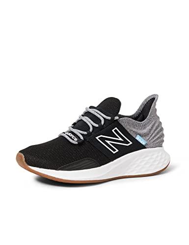 New Balance womens Fresh Foam Roav V1 Sneaker, Black/Light Aluminum, 8.5 US
