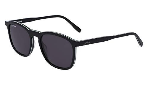 Lacoste L901s - anteojos de sol rectangulares, color negro, blanco y verde, 52,18 mm
